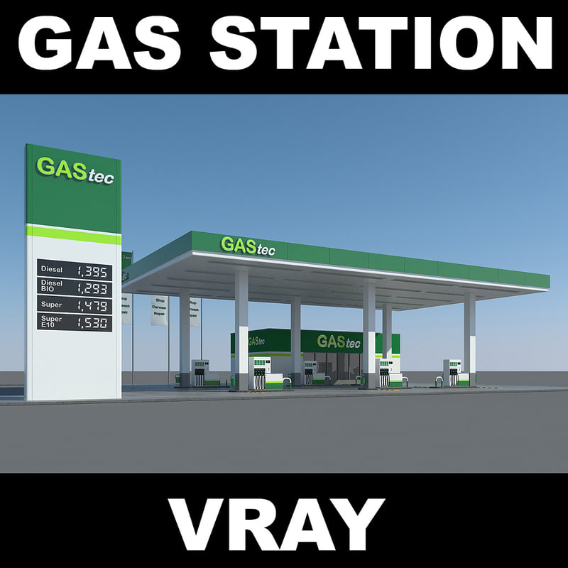 3d max gas station