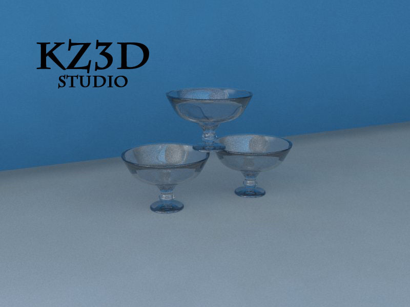 3d clear bowl glass