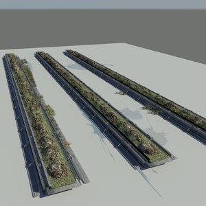 maya interior plant growing rack