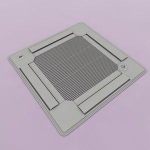 cinema4d ceiling air conditioner