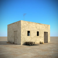 3d arab buildings props model