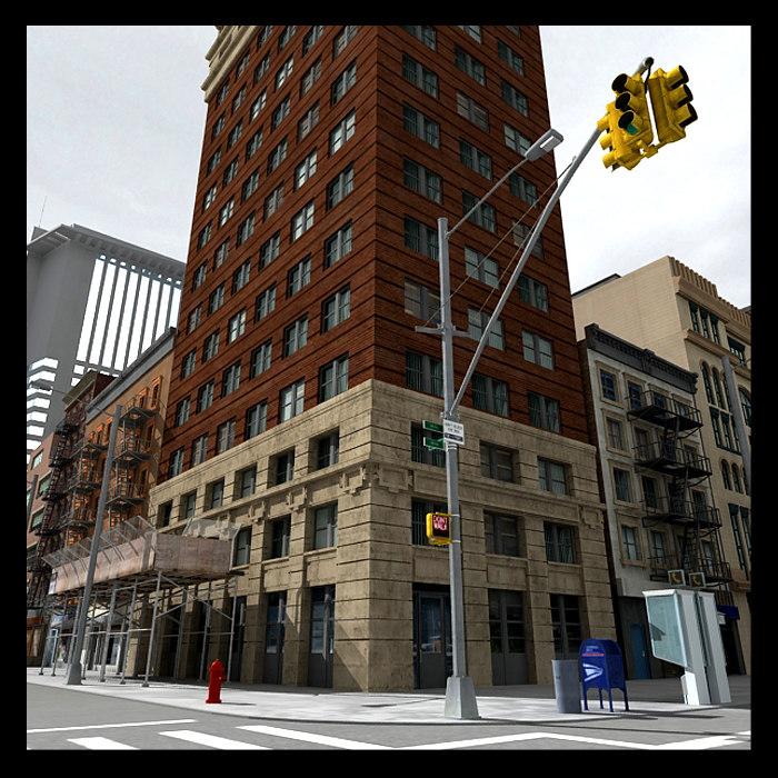 newyork buildings 3d c4d