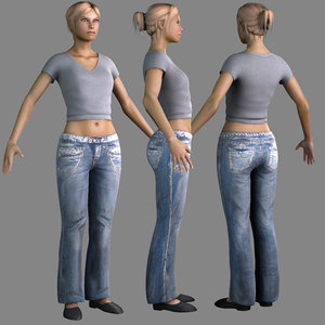 3d nude female clothes