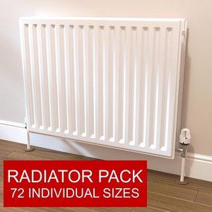 radiator pack 3d obj