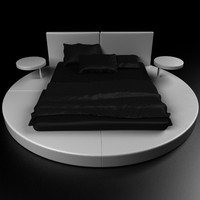 Round Bed Contemporary