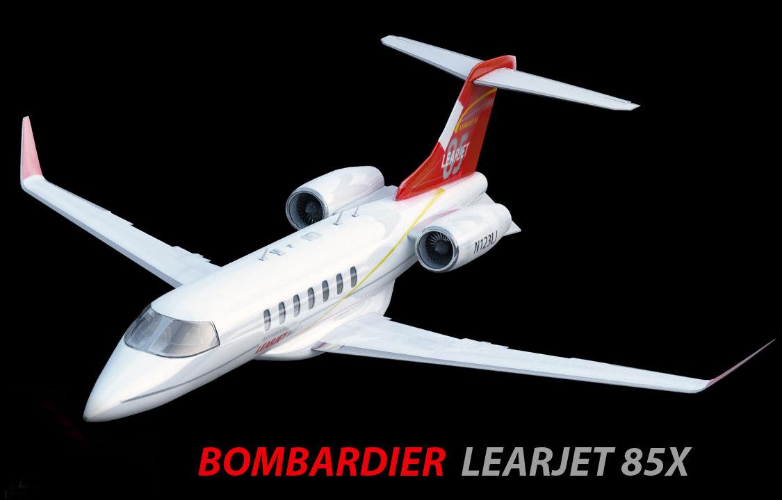 bombardier learjet 3d 3ds