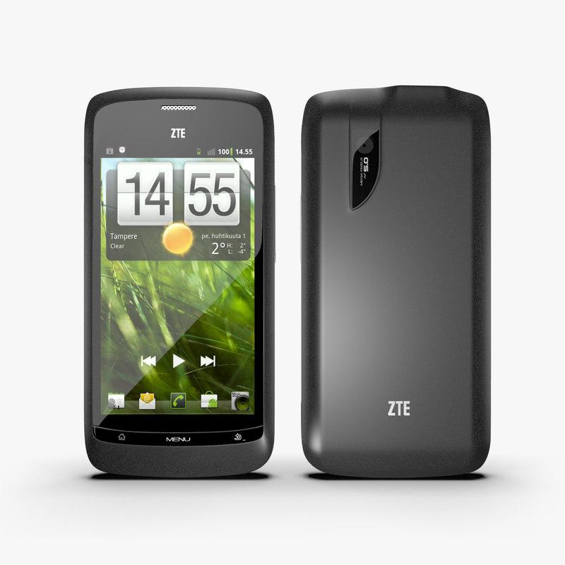 3d 3ds zte blade smartphone