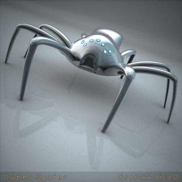 cyberpunk arthropod creature 3d model
