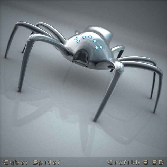 cyberpunk arthropod creature 3d model