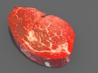 steak beef meat 3d model