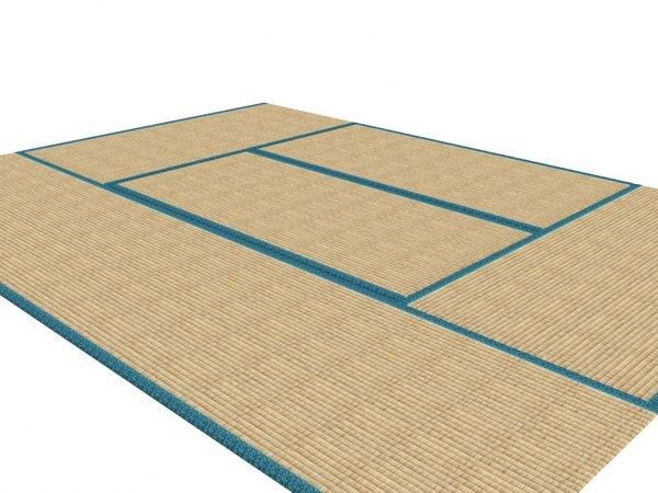 japanese tatami flooring 3d model