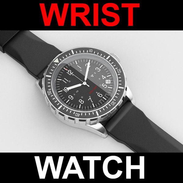 3d wristwatch watch model