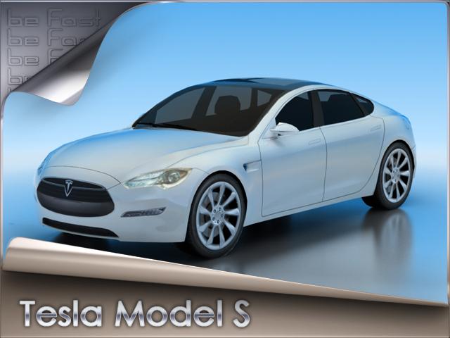 3d model tesla s modeled