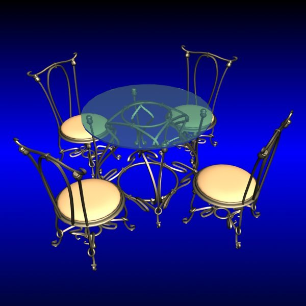 free max model art deco table