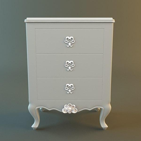 3d antique dresser details model