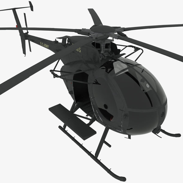 3d mh-6e little bird helicopter