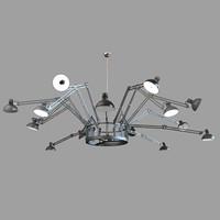 3d model of ingo moooi chandelier