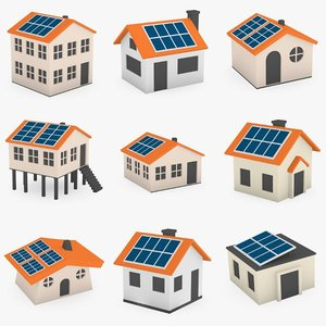 3ds max houses solar