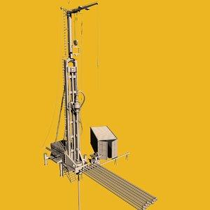 3d c4d geothermal oil derrick