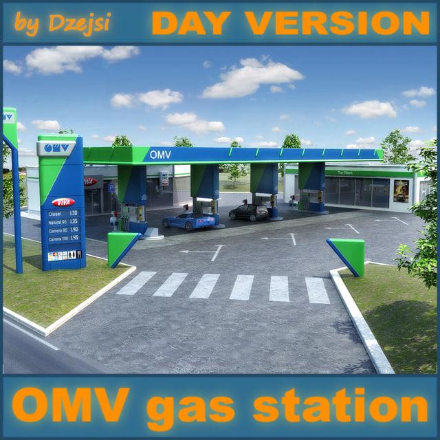 3d model omv gas station