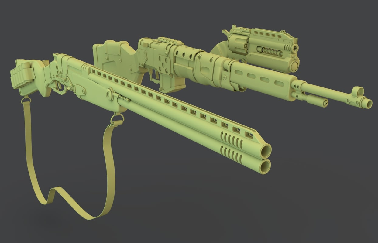3d model post weapons