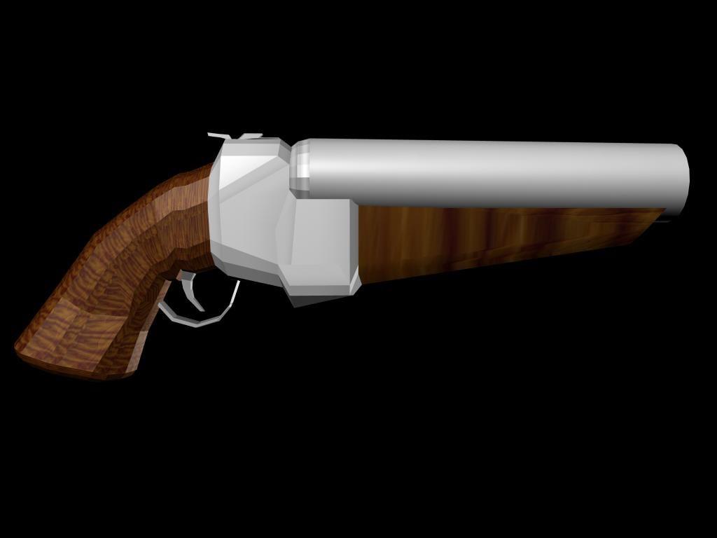 free shotgun weapon 3d model