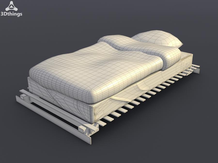 3d model vestby bed frame