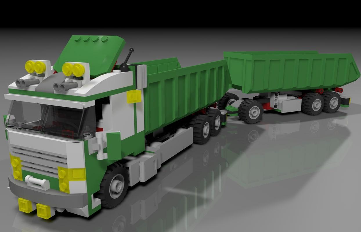 3ds max lego big truck