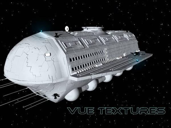 3d model alcestis habitat vessel transport