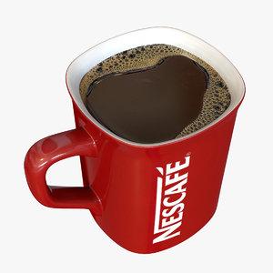 3d ceramic nescafe coffee mug model