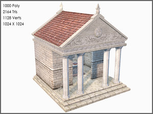 3d model classic greek temple