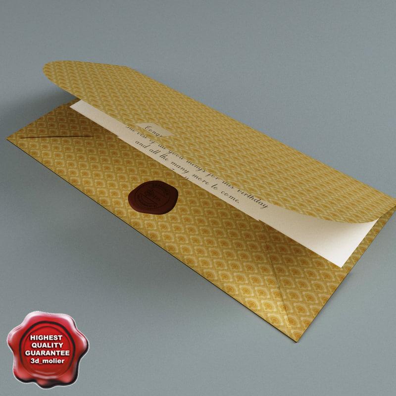 3d envelope greetings open