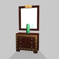dresser mirror 3d max