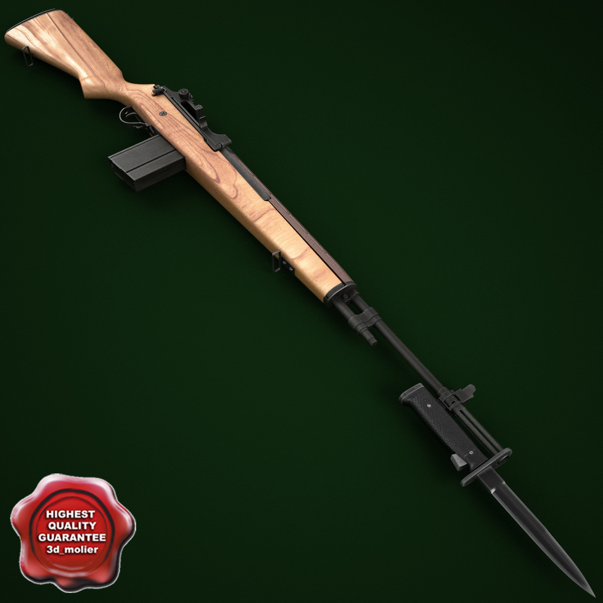 3d m14 rifle m6 bayonet