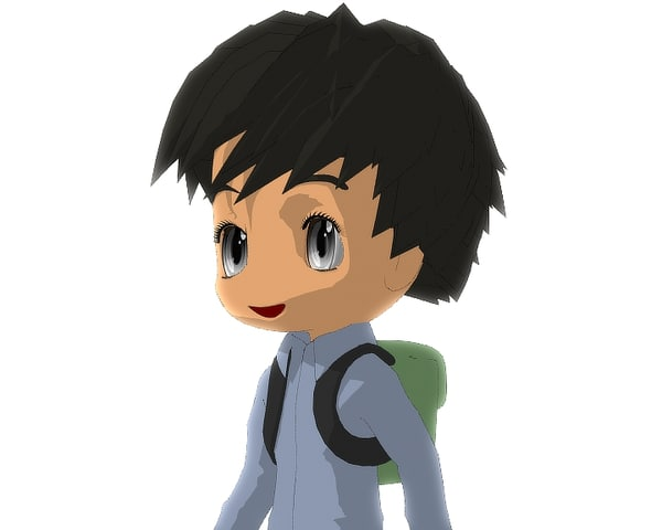 3d model male chibi version 2
