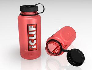 nalgene water bottle clif 3d model