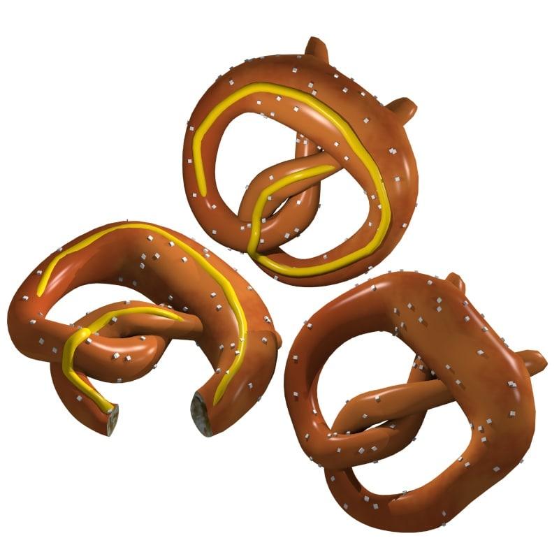 pretzels 3d model