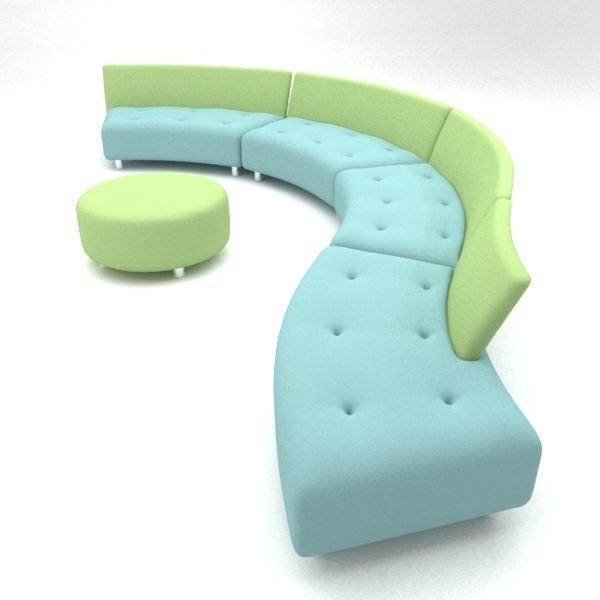 questionmark sofa 3d model