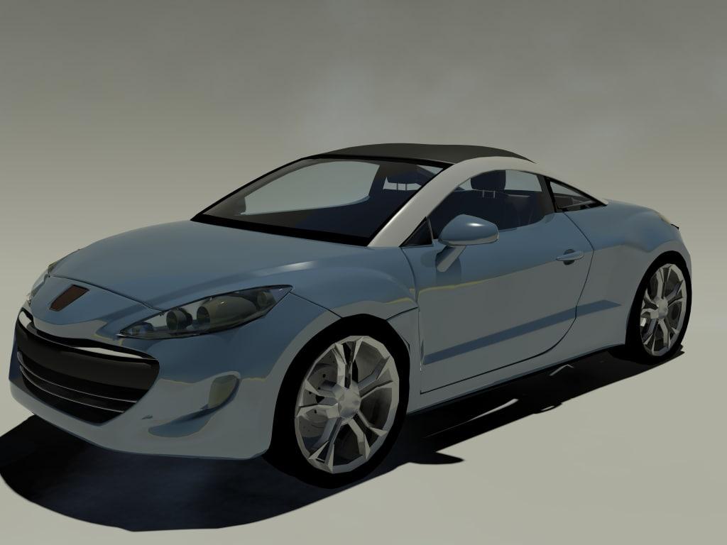 peugeot rcz 3d model