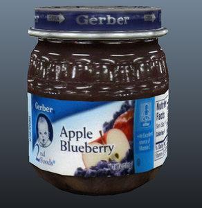 obj baby apple blueberry jar