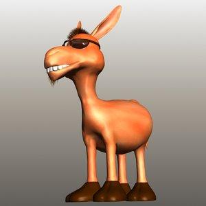 3d cartoon donkey