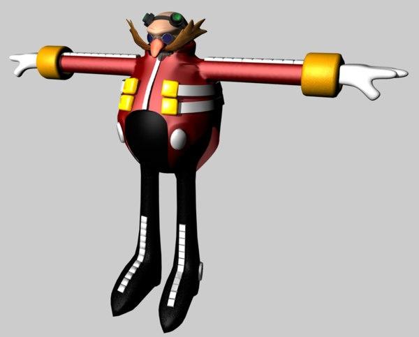 3d dr robotnik eggman sonic hedgehog model