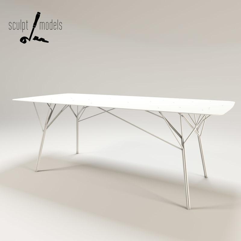 shrub table 3d max