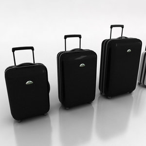 3d samsonite suitcases model
