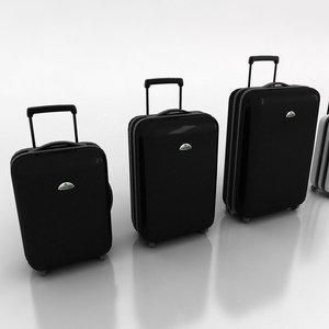 3d samsonite suitcases model