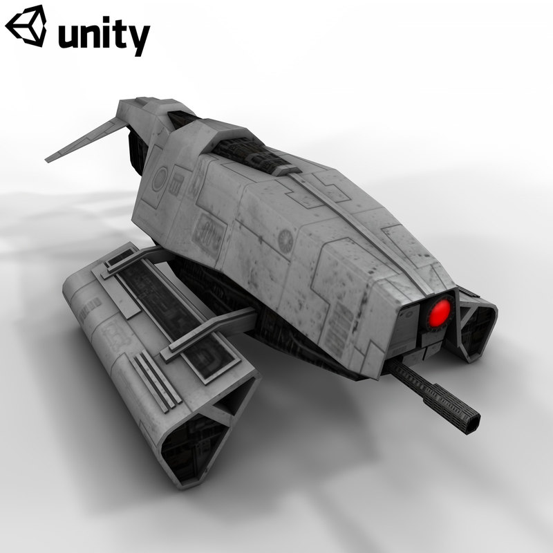 droid scout ship 3d x