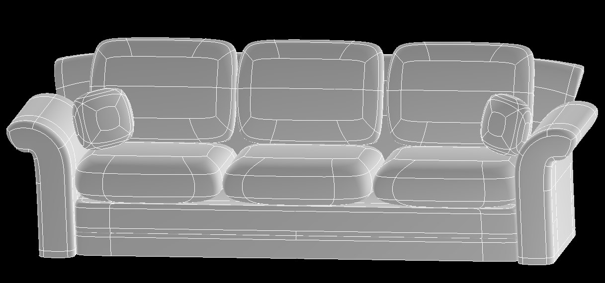 standard couch 3ds