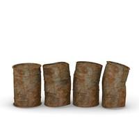 rusty barrels 3d 3ds