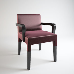 3ds realistic bassano dining chair