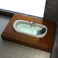 3d bathtub bathroom